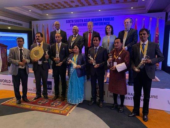 Kazi Sayeda Momtaz, Senior System Analyst, Roads and Highways Department,Winner, Bangladesh. Winning the South Asian Procurement Innovation Awards 2018 at Bhutan 6 April 2019 for Document Archive System of Bangladesh.- Hotel Dsuit