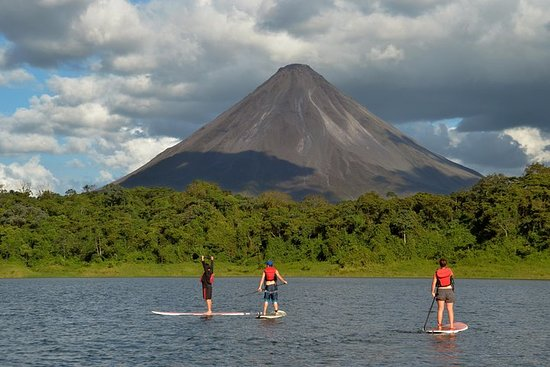 Stand Up Paddle Crossing Lake Arenal