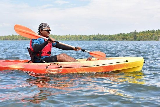Kayaking in Paravur Lake near Varkala