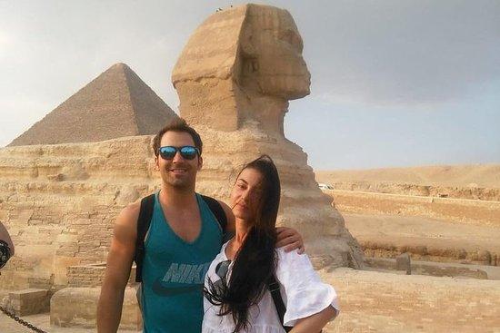 Giza pyramider og egyptisk museum fra...