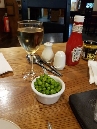 My peas wouldn't fit on the plate