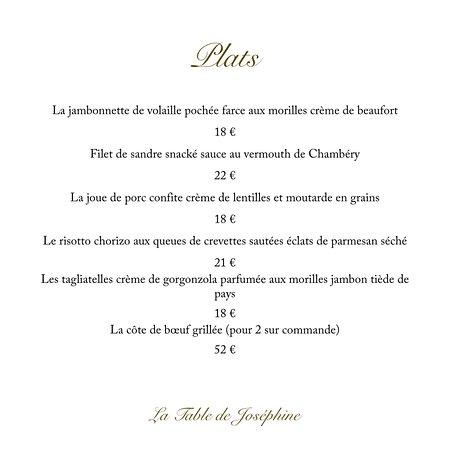 Val-Cenis, Francia: Les plats de Joséphine