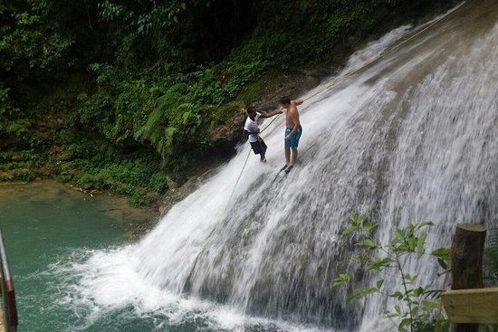 Blue Hole Waterfalls Tour from Montego...