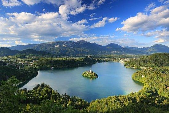 Le lac de Bled et le château de Bled...