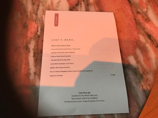 ARC Dining: Chefs menu