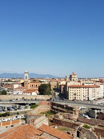 View of Livorno from atop the Mastio di Matilde tower - Fortezza Vecchia, Livorno