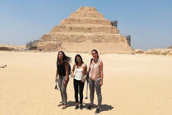hel dags pyramider tur Dahshur bøyd og...