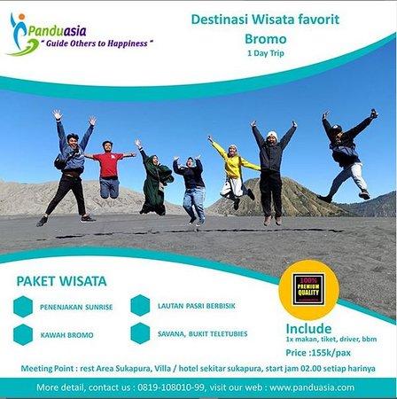panduasia.com menyediakan paket liburan asyik ke Bromo.   Price : 155k/pax,  info lebih lanjut kunjungi 👉 www.panduasia.com 👈