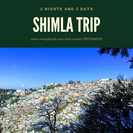 Mr Singh tour and travels arrange 2 nights and 3 days tour from Chandigarh to Shimla trip. In this tour we travel timble train, Dharmpura, Solan, Rhe Ridge, Chirst Church, Mall Road Shimla, Kufri, JakhuTemple, Himachal State Museum, Army Museum etc. For more infromation please call us 24/7 at 9803384033