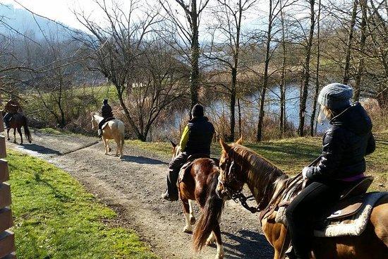 在Lunigiana騎馬
