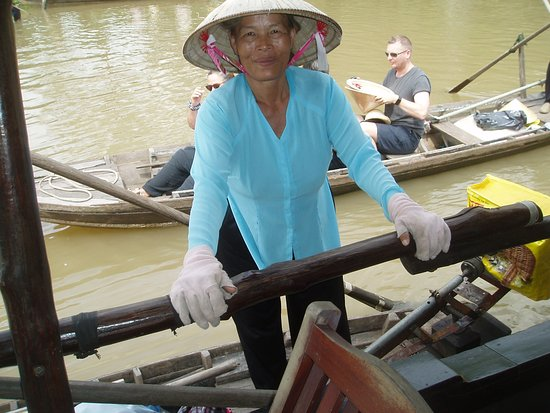 A Mekong River boat lady.