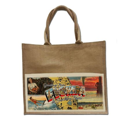 Jute Bag - Greetings from Florida Collection