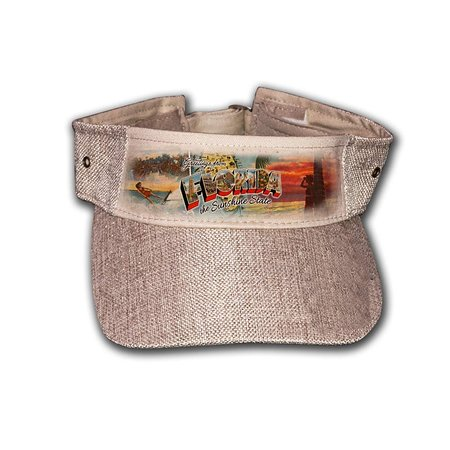 Jute Visor Open Burlap - Greetings from Florida Collection