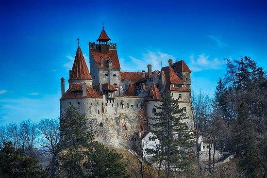 Le château de Bran par la forteresse...