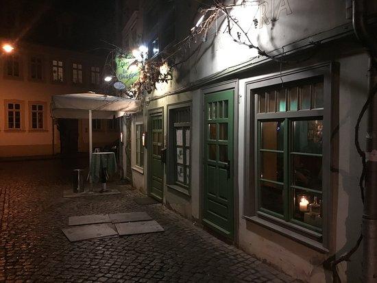 Nice restaurant in a quiet side street.