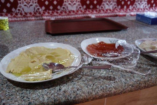 Breakfast Hummus and marmelade