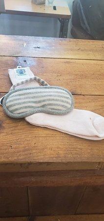 Cashmere socks and eyemask