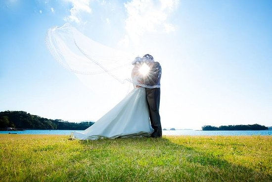 天草的豪华私人婚礼照片会议