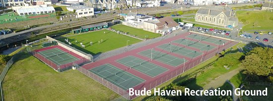 Bude Haven Recreation ground from the Air