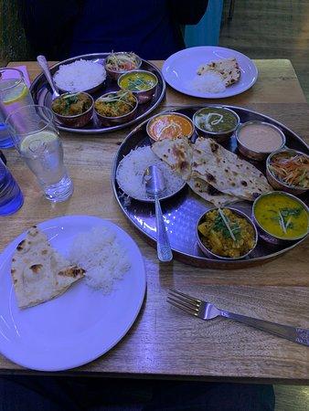 Vegan and max vegetarian thali