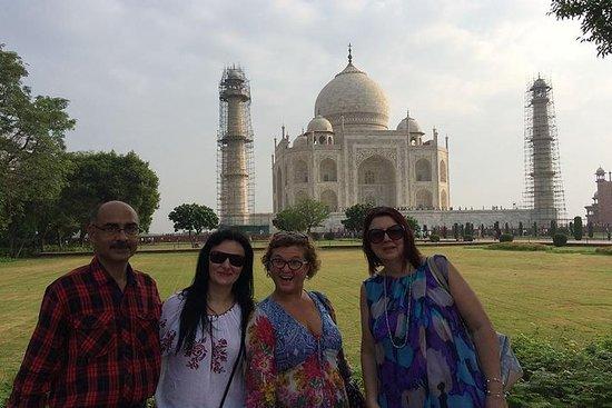 Taj Mahal Sunset & Sunrise Tour privé...