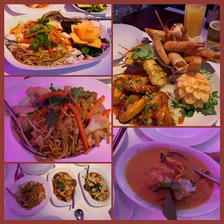 MIXED STARTER, RED CHICKEN CURRY, SEA BASS., NOODLES