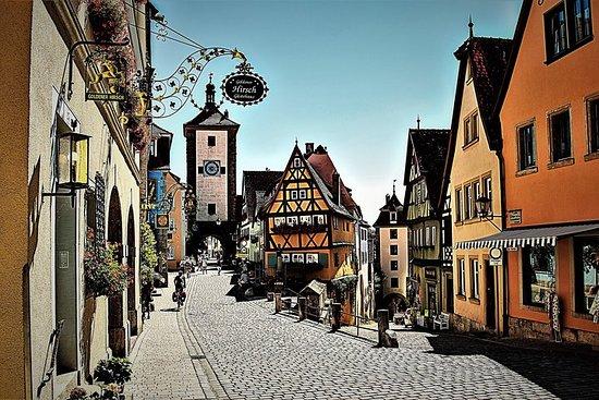 Route romantique: Rothenburg ob der Tauber et plus visite privée
