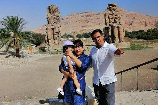Øst og vest luxor fra Kairo med fly