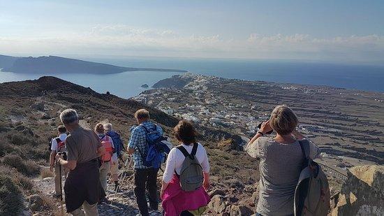 Rundgang zur Caldera von Santorini...