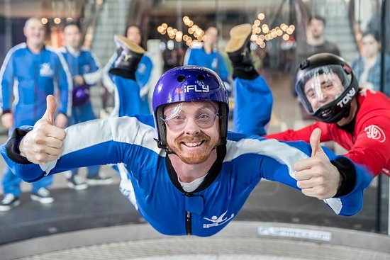 Manchester Indoor Skydiving Experience - 2 Flights & Personalised...