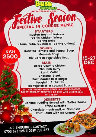 Festive Season Special 4 Course Menu