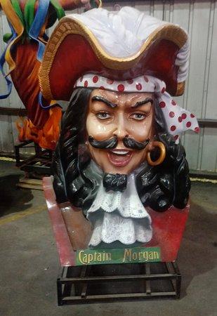 New Orleans Mardi Gras World Behind-the-Scenes Tour: Captain Morgan