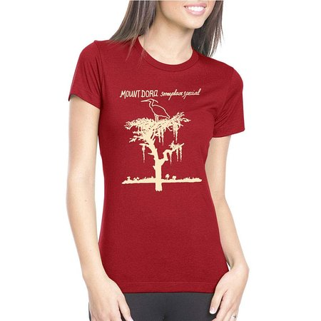 Heron T-Shirt Burgundy (Women) - Someplace Special Collection