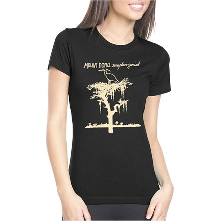 Heron T-Shirt Black (Women) - Someplace Special Collection
