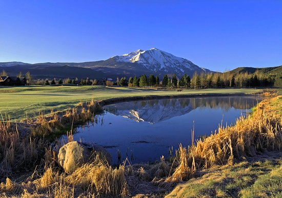 Golf at River Valley Ranch: Mt. Sopris.  Stunning!