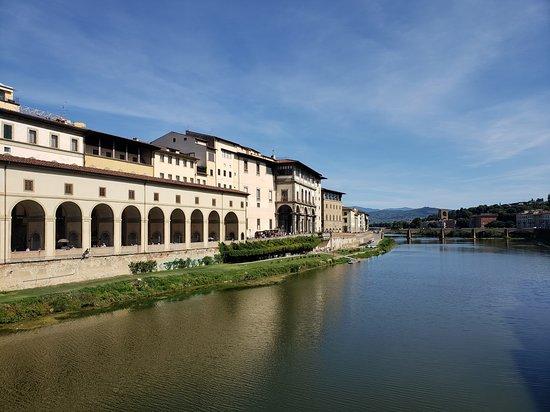 View of the Arno river from the Ponte Vecchio - Firenze