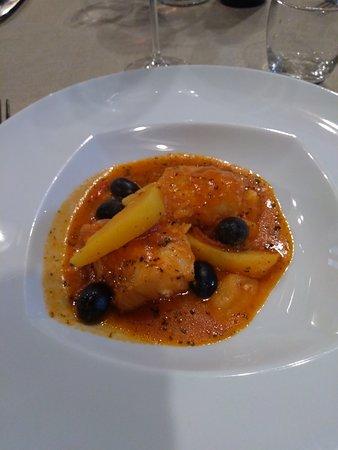 Soveria Mannelli, อิตาลี: baccalà con patate e olive nere