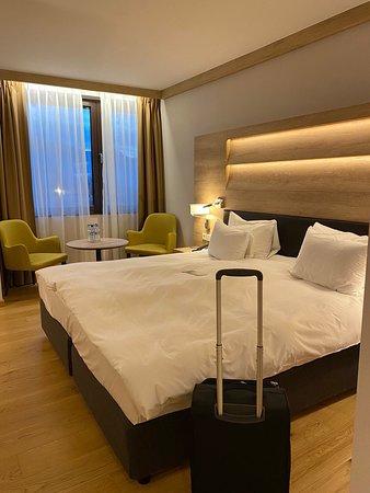 Замечательный отель Radisson Blu. Утром на завтрак-шведский стол.На нижнем этаже -спа, бассейн. Прекрасные номера. Вид из окна красивый. Персонал внимательный и приятный. Рекомендую!