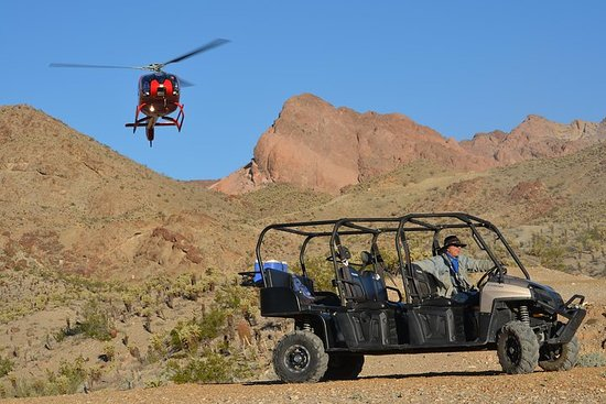 Grand Canyon Helicopter Tour en Jeep of ATV Tour met optionele Canyon ...