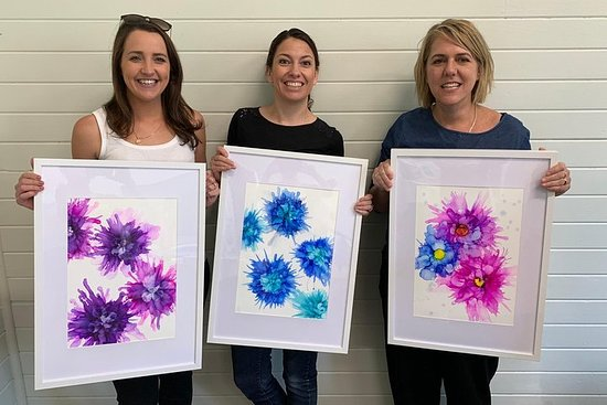 Alcohol Ink Art Workshop i Jervis Bay
