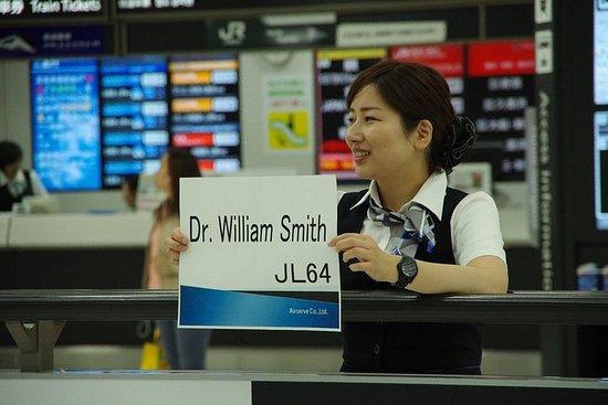 Treffen und Grüßen in Narita Airport