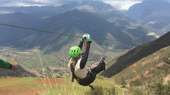 Sam's Zip Line in Sacred Valley: Take off!