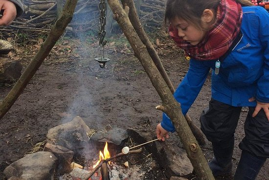 ‪Parent and child Bushcraft Brunch.‬ صورة فوتوغرافية