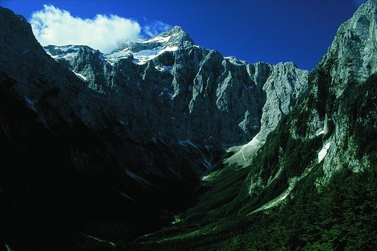 Ascent to Triglav in the summer