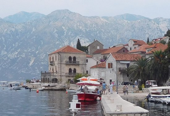 Perast, Montenegro: A super small Palace of Family Bujovic.