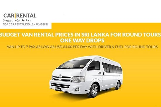 SLVR04-3-Sri Lanka Van Rental Package With Driver-6 to 8 Pax-13 nights 14 Days – fotografija