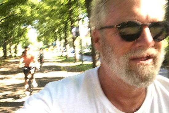 O passeio de bicicleta em Estocolmo...