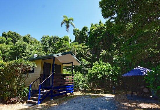 Private bbq area - Picture of Thornton Beach Bungalows - Tripadvisor