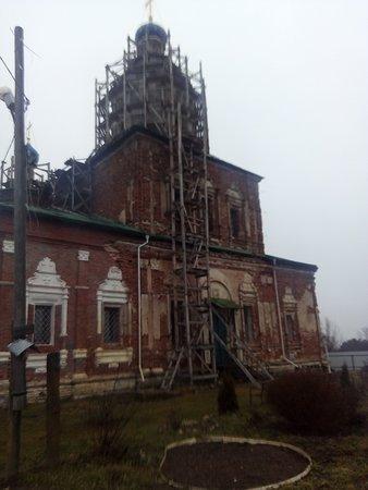 Kaluga Oblast, Rusija: Шаровкин монастырь. Успенский храм.