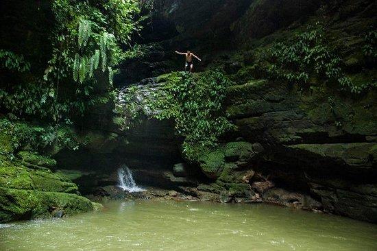 Jungle, grotten, watervallen en ...